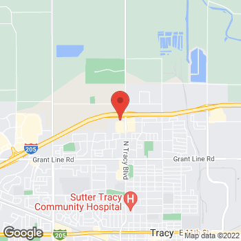 Map of Arby's at 745 W Clover Rd, Tracy, CA 95376