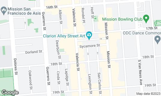 Map of Elbo Room at 647 Valencia St San Francisco, CA