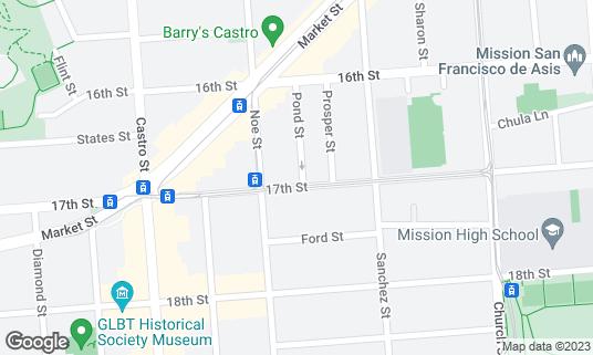 Map of Frances at 3870 17th St San Francisco, CA