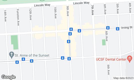 Map of Arizmendi Bakery at 1331 9th Ave San Francisco, CA