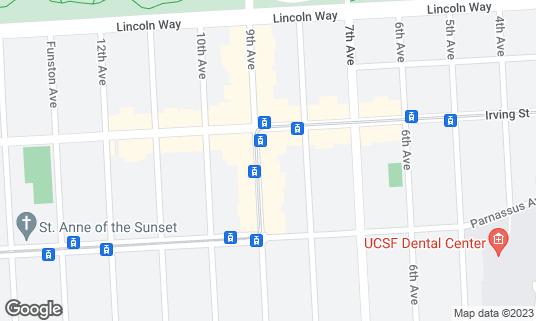 Map of Social Kitchen & Brewery at 1326 9th Ave San Francisco, CA