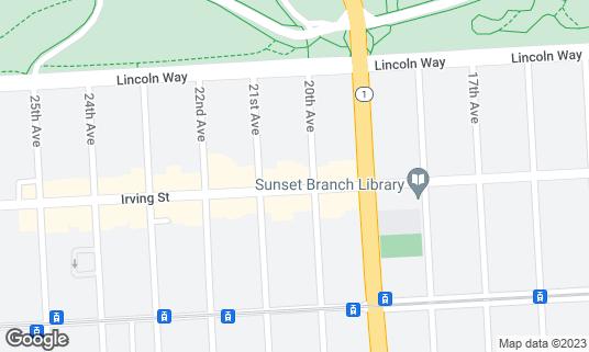 Map of Tpumps at 1916 Irving St San Francisco, CA