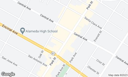 Map of Burma Superstar at 1345 Park St Alameda, CA