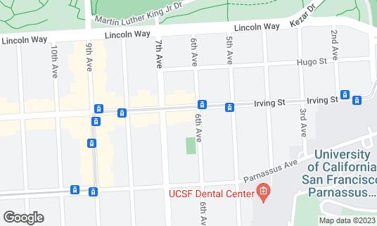 Map of Lavash at 511 Irving St San Francisco, CA