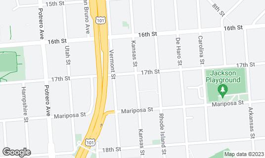 Map of Live Sushi Bar at 2001 17th St San Francisco, CA