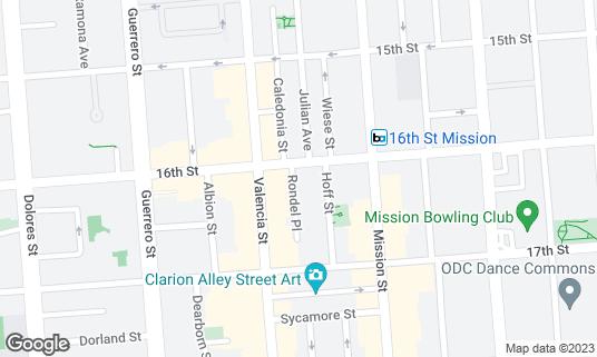 Map of Pancho Villa at 3071 16th St San Francisco, CA