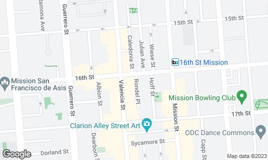 Map of Bond at 3079 16th St San Francisco, CA