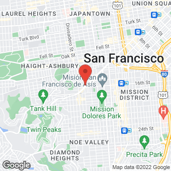 Map of Dignity Health-GoHealth Urgent Care Castro at 2288 Market St, San Francisco, CA 94114