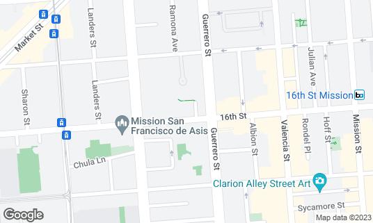 Map of Mozzeria at 3228 16th St San Francisco, CA