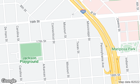 Map of Bottom of the Hill at 1233 17th St San Francisco, CA