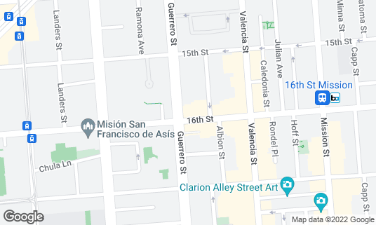 Map of Double Dutch at 3192 16th St San Francisco, CA
