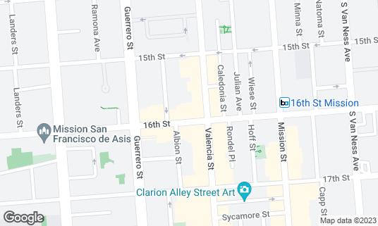 Map of Picaro at 3120 16th St San Francisco, CA