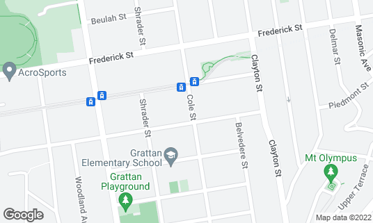 Map of Bambino's Ristorante at 945 Cole St San Francisco, CA