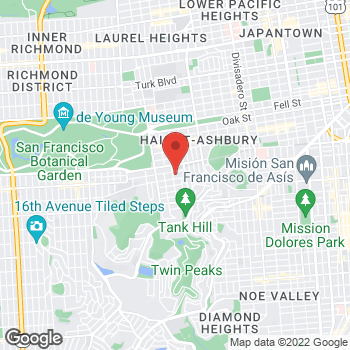 Map of Dignity Health-GoHealth Urgent Care Cole Valley at 930 Cole St, San Francisco, CA 94117