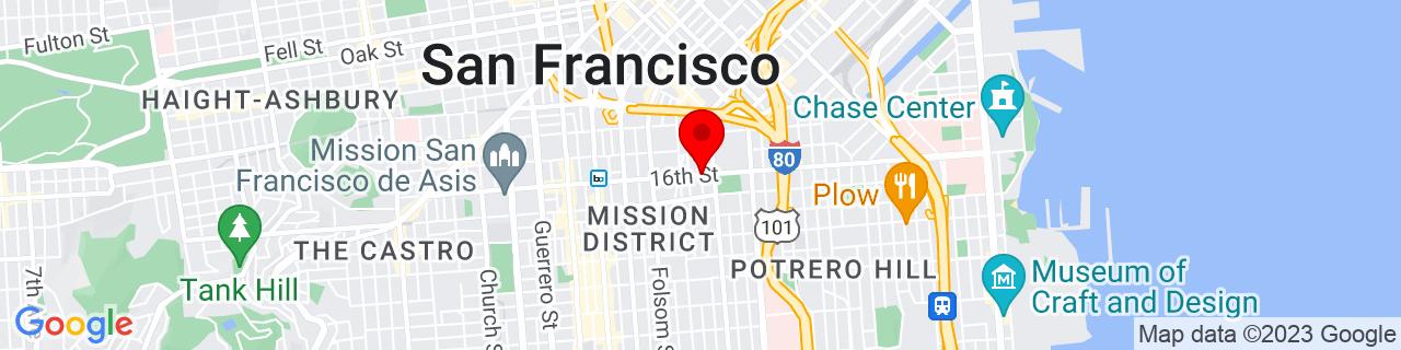 Google Map of 37.7655641, -122.4114895