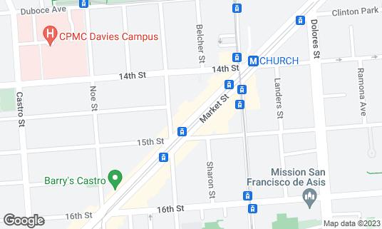 Map of Café du Nord at 2174 Market St San Francisco, CA