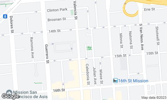 Map of Four Barrel Coffee at 375 Valencia St San Francisco, CA