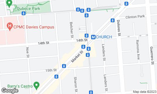 Map of Blackbird at 2124 Market St San Francisco, CA
