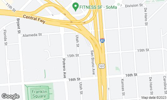 Map of The Great Northern at 119 Utah St San Francisco, CA