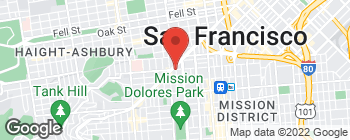 Map of 655 14th St in San Francisco