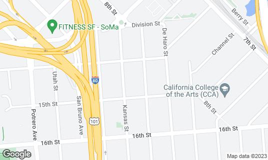Map of San Francisco Design Center at 2 Henry Adams St Ste 2M-33 San Francisco, CA