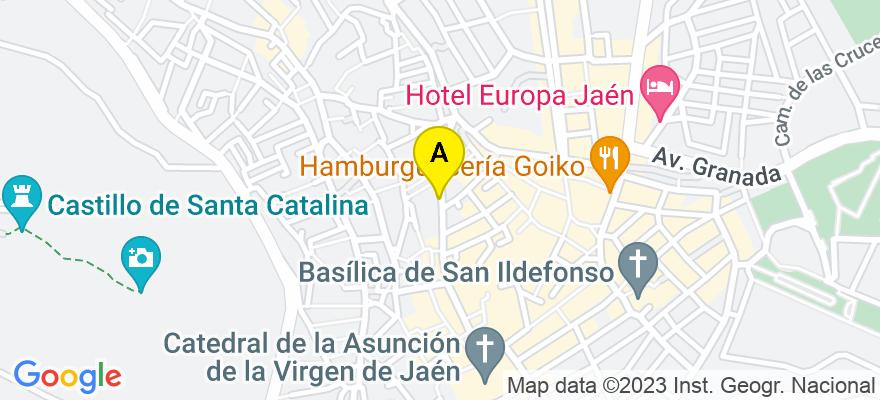 situacion en el mapa de . Direccion: C/ Doctor Eduardo Arroyo Nº3 Local 8, 23004 Jaén. Jaén