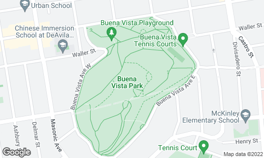 Map of Buena Vista Park at Buena Vista Ave San Francisco, CA