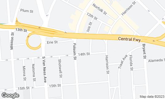 Map of Rintaro at 82 14th St San Francisco, CA
