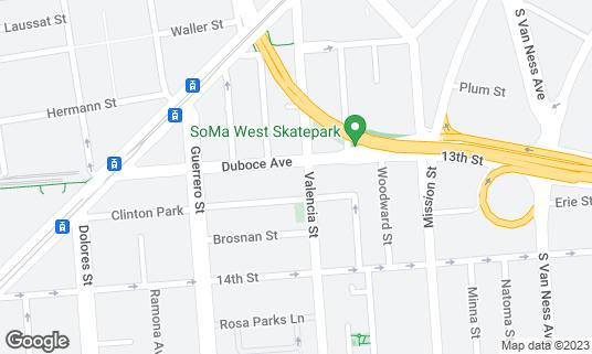 Map of Tawla at 206 Valencia St San Francisco, CA