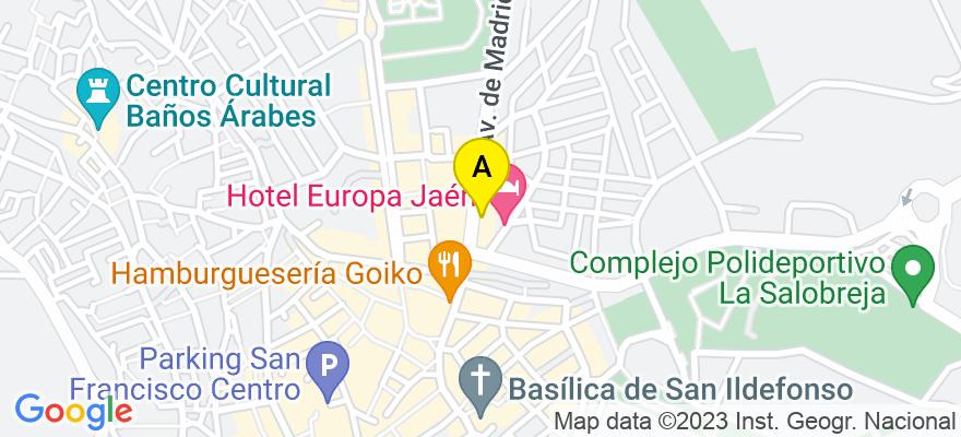 situacion en el mapa de . Direccion: Avenida Madrid, 8, 23003 Jaén. Jaén