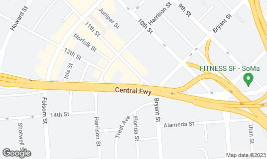 Map of SoMa StrEat Food Park at 428 11th St San Francisco, CA