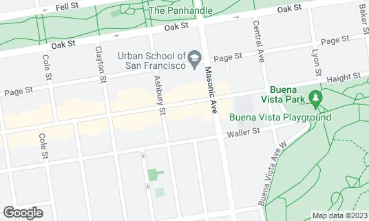 Map of Pork Store Cafe at 1451 Haight St San Francisco, CA