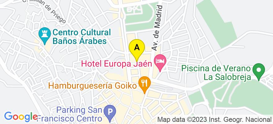 situacion en el mapa de . Direccion: Calle Navas de Tolosa 11, 23003 Jaén. Jaén