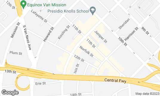 Map of WISH Bar & Lounge at 1539 Folsom St San Francisco, CA