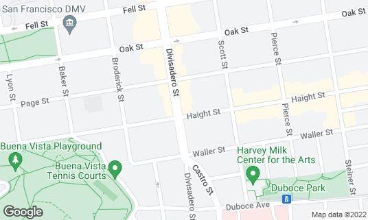 Map of Ijji Sushi at 252 Divisadero St San Francisco, CA