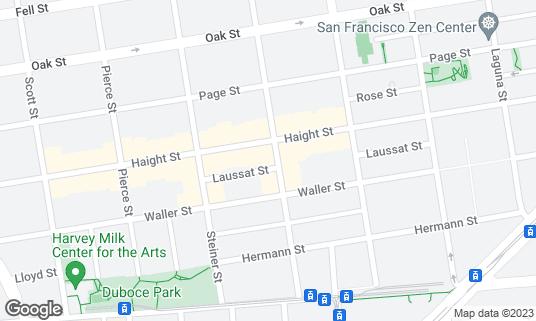 Map of Iza Ramen at 237 Fillmore St San Francisco, CA