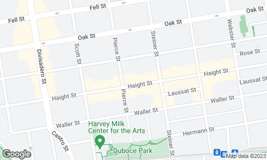 Map of Danny Coyle's at 668 Haight St San Francisco, CA