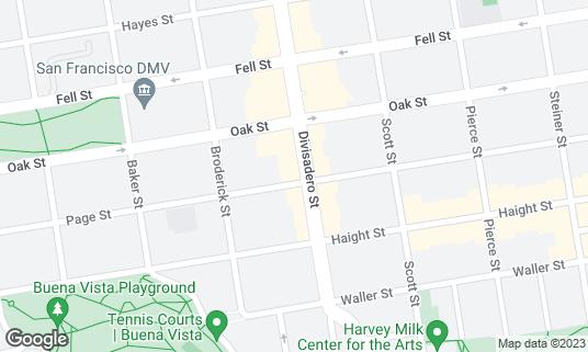 Map of Sightglass Coffee at 301 Divisadero St San Francisco, CA
