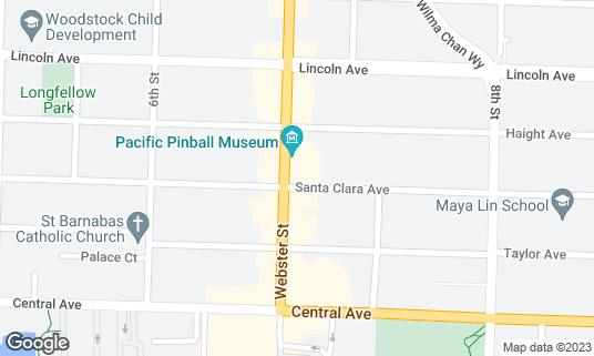 Map of Café Jolie at 1500 Webster St Alameda, CA