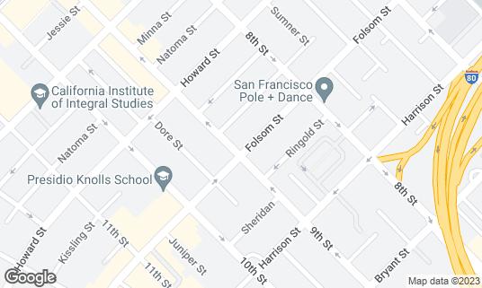 Map of Azúcar Lounge at 299 9th St San Francisco, CA