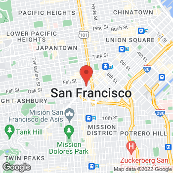 Map of Dignity Health - GoHealth Urgent Care Market Street at 1600 Market St, San Francisco, CA 94102