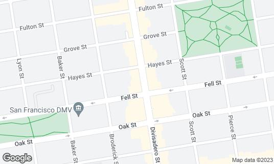 Map of Souvla at 531 Divisadero St San Francisco, CA