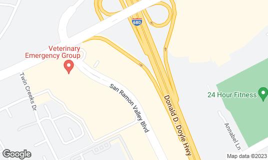 Map of Crown Billiards at 2416 San Ramon Valley Blvd Ste 100 San Ramon, CA