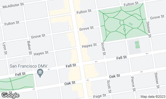 Map of Nopa at 560 Divisadero St San Francisco, CA
