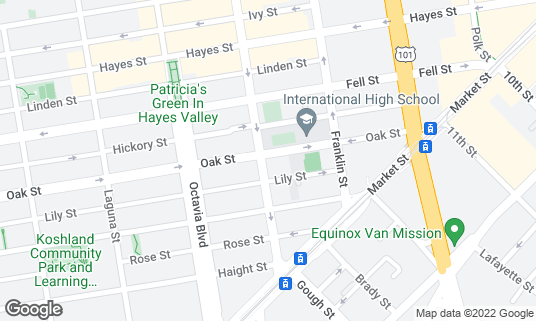 Map of 20th Century Cafe at 198 Gough St San Francisco, CA
