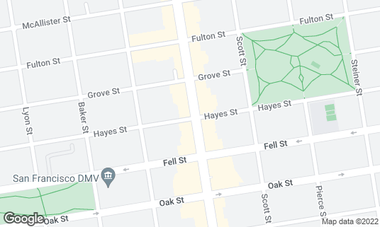 Map of Bean Bag Cafe at 601 Divisadero St San Francisco, CA