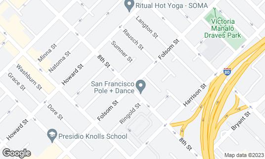 Map of F8 at 1192 Folsom St San Francisco, CA