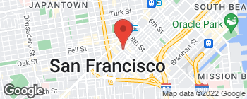 Map of 1385 Mission St in San Francisco