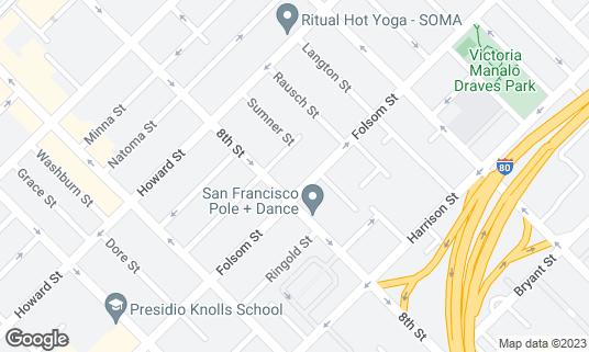 Map of Cat Club at 1190 Folsom St San Francisco, CA