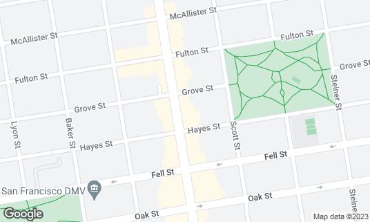 Map of The Independent at 628 Divisadero St San Francisco, CA